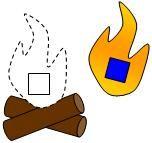 Campfire Shape Match File Folder Game