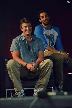 famous friends :-) Nathan Fillion, Zachary Levi