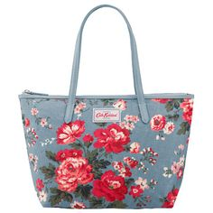 Winter Rose Medium Leather Trim Tote | Cath Kidston |