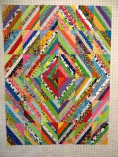 The Way I Sew It: String Diamond Quilt Top