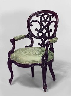 Too old fashioned & fussy, but good idea to redo that chair - maybe for the master?