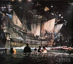 When movie sets were magical.  The Inferno Pirate Ship