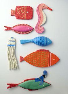 Illustrated ornaments by Carole Hénaff