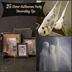 Check out these clever and cost efficient ways to decorate with these 25 DIY Clever Halloween Party Decorating Tips...