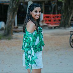 @blogviviribeiro já está no clima#TropicalVibesRS para curtir muito o verão, amamos!!!😍😍😍#reginasalomao #SS17