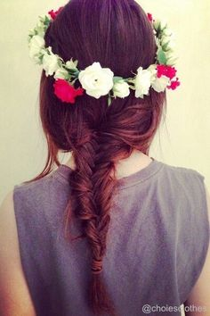 #nice #hairstyle #flowers #hair #love #cute
