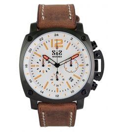 Reloj S&S Mod. GU-1916-BS Blanco/Naranja