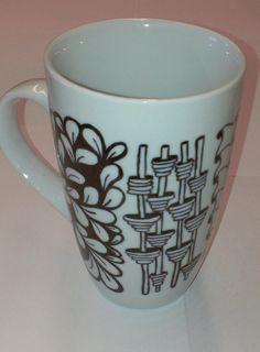 Zentangle Artsy Mug for your morning coffee by MyCreeksideStudio, $15.00