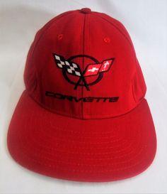 CORVETTE Snapback Hat Classic Sportswear Red Cross Flag Emblem Logo  Baseball Cap  Corvette  BaseballCap 7831bd3752ba