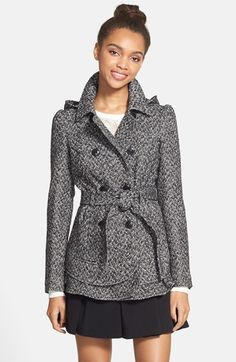 Celebrity Pink Skirted Double Breasted Coat (Juniors) available at #Nordstrom