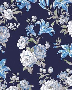 Andalusia - Day Lily Delight - Midnight Blue