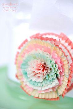 paper rosettes   paper rosette
