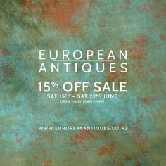 It's a one off SALE at EUROPEAN ANTIQUES. For all purchase or shipping enquires simply call Meredith on +64 274140081 or +64 9 3609858 or email Meredith at info@europeanantiques.co.nz.