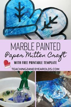 Preschool Winter Art with Free Mitten Printable This preschool winter art activity is all about the process of painting mittens with marbles in a bag. Comes with a free mitten printable, too! Nursery Activities, Preschool Learning Activities, Preschool Art, Winter Activities, Preschool Activities, Winter Art, Winter Theme, Carpe Diem, Time Planner