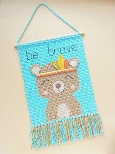Crochet Wall Art, Crochet Wall Hangings, Crochet Home Decor, Crochet Hooks, Crochet Sheep, Crochet Baby, Half Double Crochet, Single Crochet, Baby Wall Decor