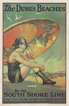 Los Angeles County circa 1930 Advertising Poster