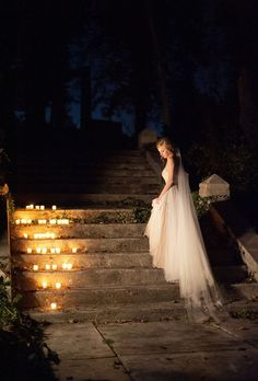 candles are always romantic decor at weddings