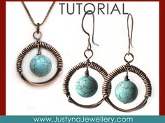 Wire Wrapping Jewelry Tutorial Wire Earrings by JustynaJewellery, $4.99