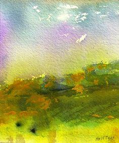 """Rainbow Sky Italy"" - Original Fine Art for Sale - © Nancy Hall"