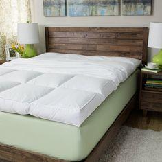 Superior All Season Down Alternative Hypoallergenic White Mattress Topper | Overstock.com Shopping - The Best Deals on Down Alternative Fiber Beds