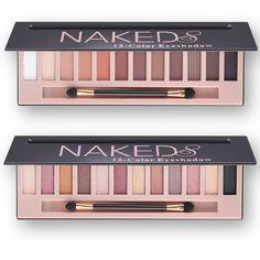 Barato Hot Moda Marca De Maquiagem À Prova D' Água 12 Cores Shimmer Glitter Make Up Pigmentos de Cores Nu Paleta Da Sombra Profissional, Compro Qualidade Sombra de olho diretamente de fornecedores da China:                       &n