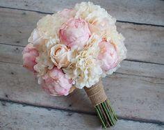 Bouquet de mariage Shabby Chic  pivoine Rose et Hortensia
