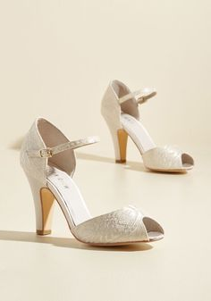 9eed157d02c The Sole Works Heel in Ivory Lace. You love to go all-out with