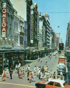 Pitt St looking from King St towards Market Dt Great Photos, Old Photos, Australia Pictures, The 'burbs, Sacred Architecture, Cities, Rock Pools, Sense Of Place, Sydney Australia