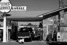 vintage service stations   Daytona Beach Used Cars - Old Service Station