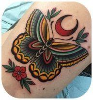 Tattoo old school, clips, vintage butterfly tattoo, butterfly thigh tattoo, Leg Tattoos, Flower Tattoos, Body Art Tattoos, Sleeve Tattoos, Xoil Tattoos, Octopus Tattoos, Color Tattoos, Tattoo Sleeves, Butterfly Tattoos