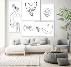 Canvas Home, Canvas Wall Art, Wall Art Prints, Poster Prints, Posters, Home Decor Pictures, Living Room Pictures, Hand Lines, Nordic Art