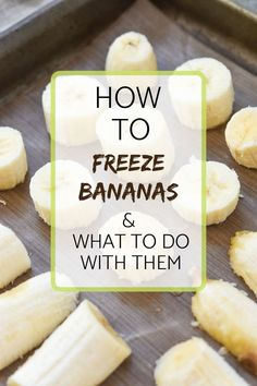 How to Freeze Bananas - Meal Plan Addict - - No need to make banana bread after your bananas go over ripe! Today, I show you how to freeze bananas! Frozen Banana Recipes, Healthy Banana Recipes, Ripe Banana Recipe, Frozen Banana Bites, Frozen Meals, Frozen Fruit, Fruit Recipes, Recipes For Bananas, Frozen Banana Dessert
