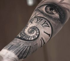 Realistic Time Tattoo by Niki Norberg | Tattoo No. 13698