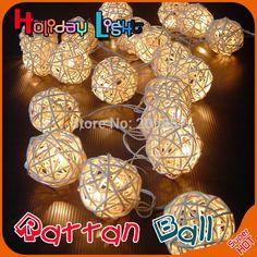 Cheap 2 m 20led rattan sfera led della stringa di illuminazione vacanze di natale festa di nozze decorazione tenda luci ghirlanda trasporto di goccia, Compro Qualità Led string direttamente da fornitori della Cina: