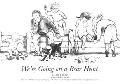 We're Going on a Bear Hunt coloring page.  A fun book to read with the kids.
