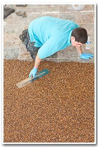 The installation process of stone flooring is easy and fast.