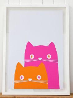print & pattern: WALL ART by YOKE - easy art project for kids