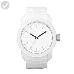 Diesel Men's DZ1436 Double Down White Silicone Watch - Mens world (*Amazon Partner-Link)
