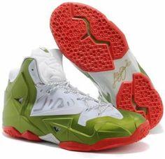 43a6c8ffd2d0 Nike LeBron 11 NikeID White Green Red Nike Lebron