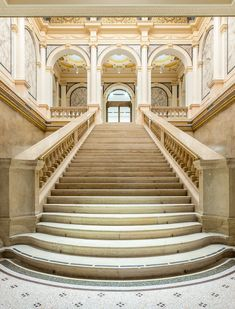 is on the starting blocks! Enjoy this beautiful insight into the glamorous staircase and heart of our second venue. Visit us there from 13 March on - read about our mission and program on our website now. Away We Go, 13 March, New Museum, Vienna, Modern Art, Insight, This Is Us, Stairs, Website