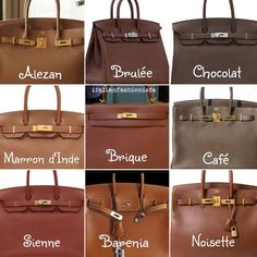 Brown HERMES leather color chart https://twitter.com/gaefaefagaea4/status/895099552956416000