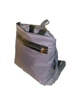 Waterproof Backpack Handwoven Backpack Grey Backpack by AdaBags