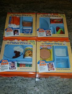 Lot of Vintage 1988 Fisher Price Fun with Food 2139 2136 2130 2129 with Box Plus | eBay