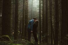 scottish woods, engagement shoot | greenweddingshoes