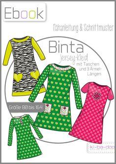 Ebook Binta A-Linie-Kleid - Schnittmuster und Anleitung als PDF, versandkostenfrei