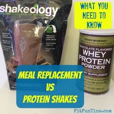 Did you know there is a difference between protein shakes and meal replacement shakes? Go to www.FitFunTina.com to find out more!