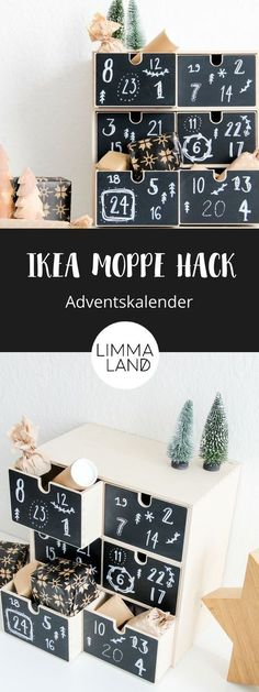 The IKEA MOPPE dresser is great as an advent calendar and that is . - Ikea DIY - The best IKEA hacks all in one place Ikea Christmas, Christmas Hacks, Christmas Crafts, Ikea Xmas, Ikea Organization, Decoration Ikea, Advent Season, Diy Advent Calendar, Best Ikea