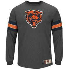 925b9a60 Mens Chicago Bears Majestic Charcoal Team Spotlight III Long Sleeve T-Shirt  Thermal Long Sleeve