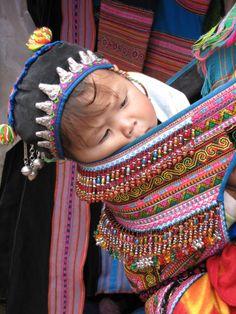 Traditional Babywearing in Vietnam (Hmong)