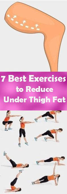 7 Best Exercises to Reduce Under Thigh Fat -This is the ideal inner-thigh workout — one that blasts fat while building muscle Fitness Workouts, Easy Workouts, Fitness Tips, Fitness Motivation, Health Fitness, Lose Thigh Fat Fast, Workout Bauch, Thigh Exercises, Thigh Workouts